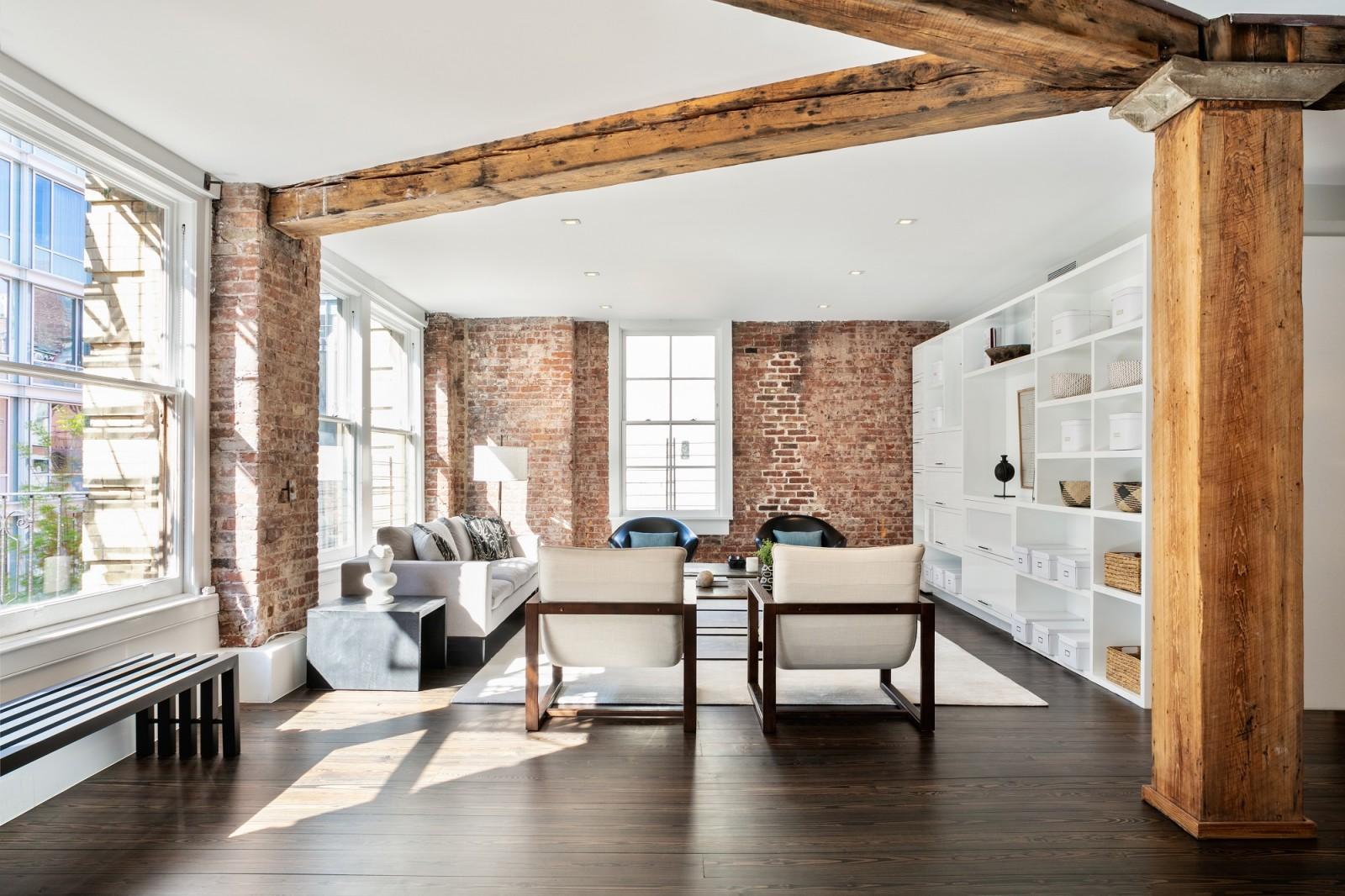 Brick Wall Living Interior