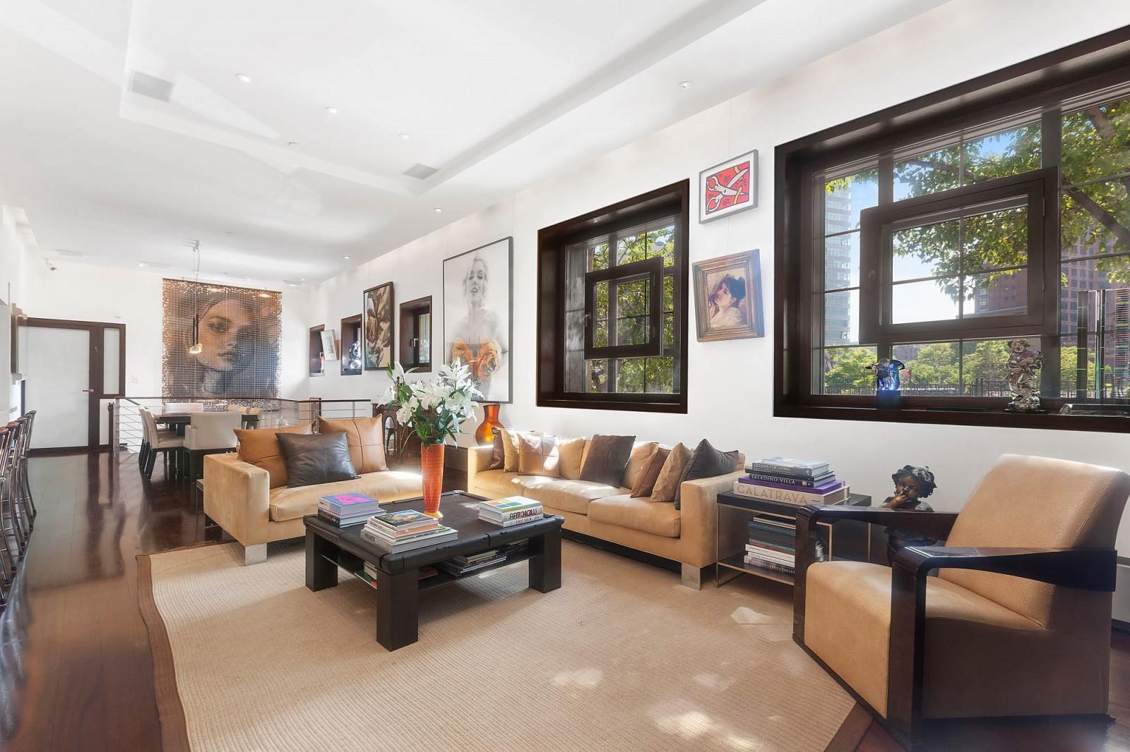 Stylish mid century modern living room